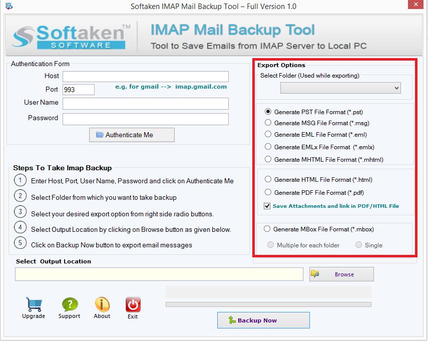 choose folder & export type format