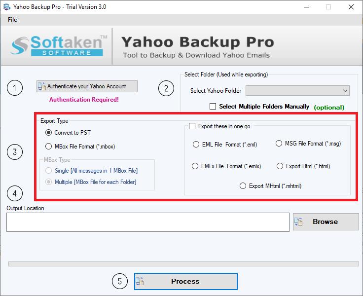 select backup options