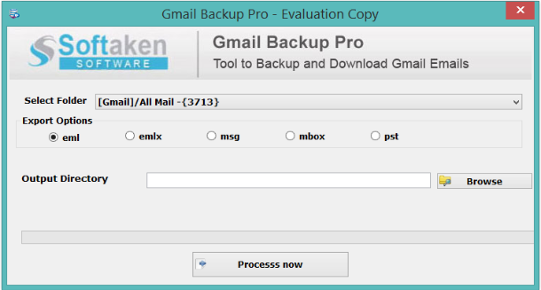 Gmail Backup Tool – Download Emails in PST, EML, EMLX, MBOX