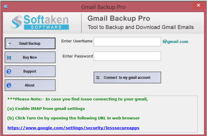 Run Gmail Backup Pro